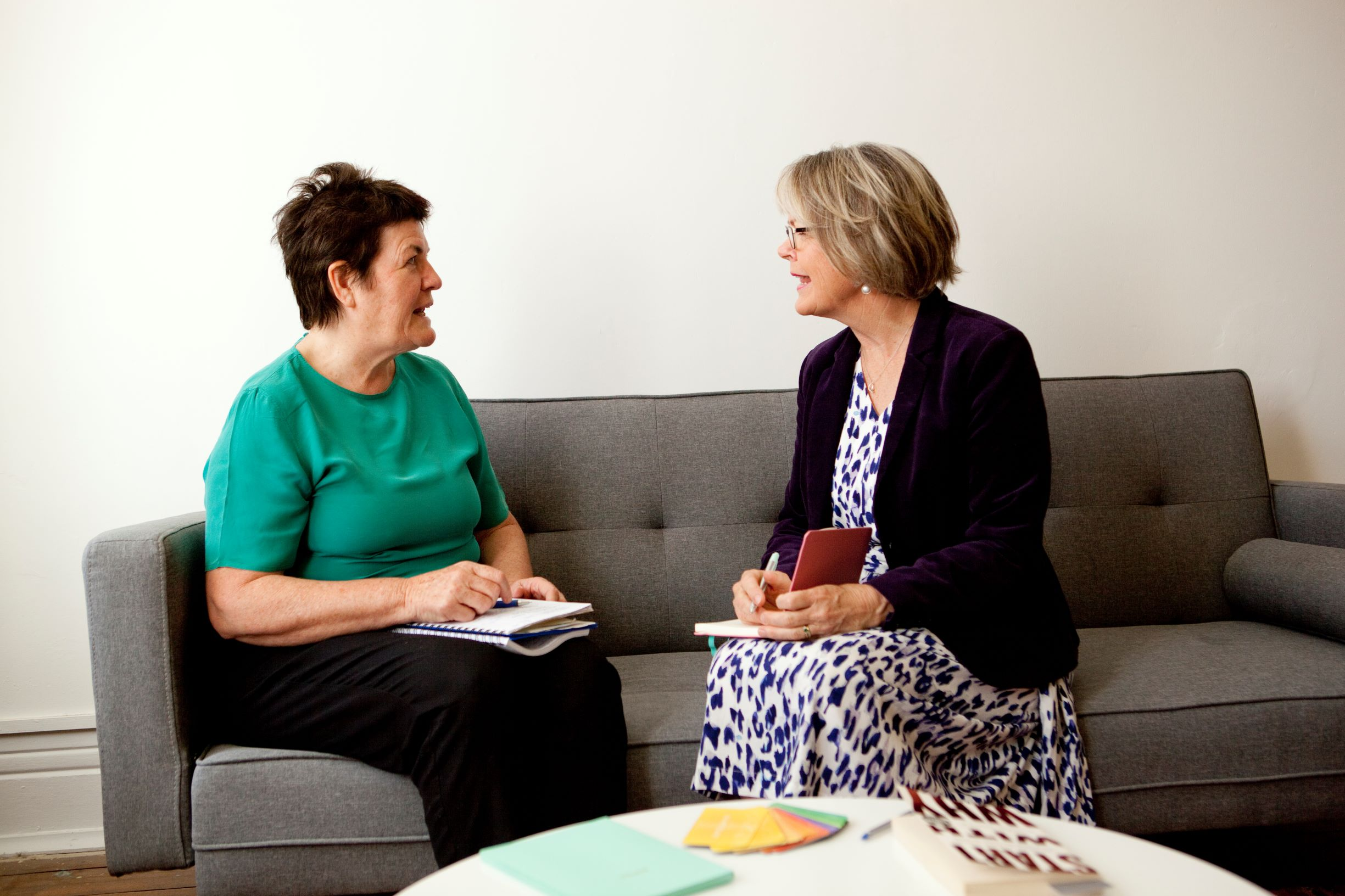 Janette Outram coaching a client